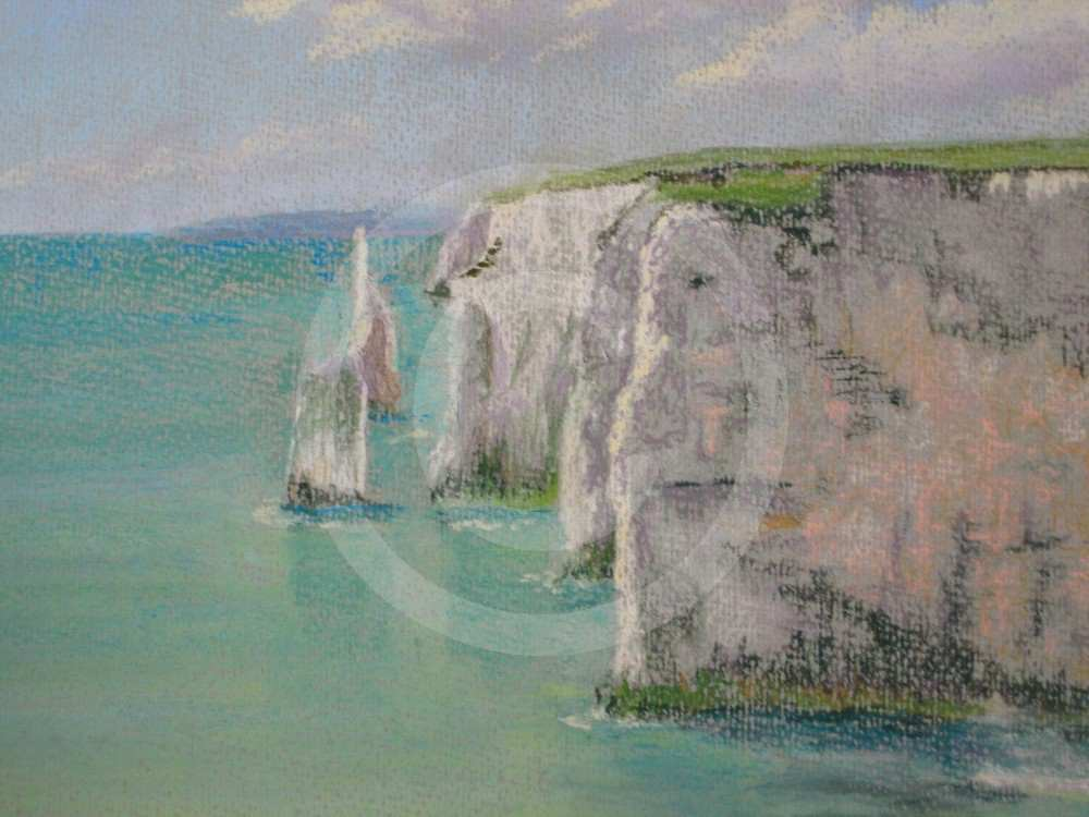 The Chalk Cliffs by Janet Saxby