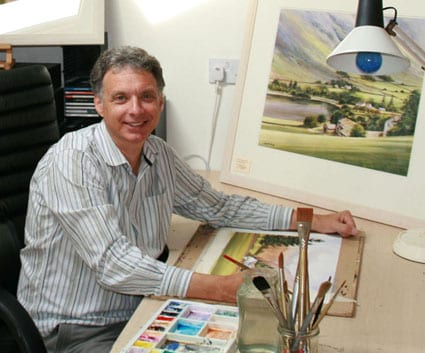 Geoff Kersey in his studio for ad