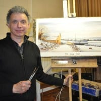 Demonstration by Geoff Kersey at Driffield Art Club