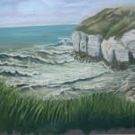 Thornwick Bay – pastel by Duncan Baird