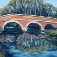 Wansford Bridge – a pastel by Duncan Baird
