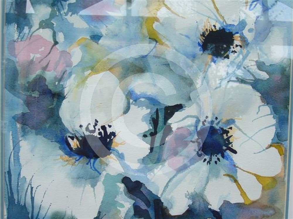 White Flowers by Sally Bell