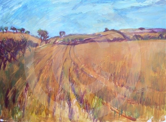 Cleveland Way,  mixed media. Mimi Claughton
