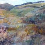 Blue landscape by Driffield Art Club member Mimi Claughton