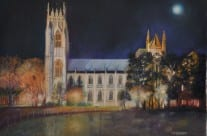 Autumn Moon over Beverley Minster by Mary Wells