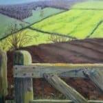 Gate near Cowlam – pastel by Duncan Baird
