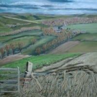Huggate – pastel by Duncan Baird
