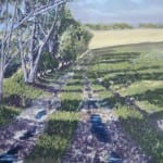 On the Road to Langtoft in Autumn- pastel by Duncan Baird