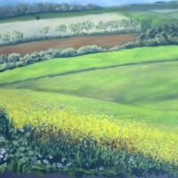 Road to Warter – pastel by Duncan Baird