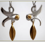 Silver and Gold Earrings by Jacqueline Warrington – Jeweller Techniques in making Earrings