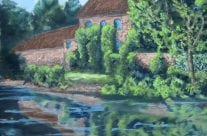 Canal Head Driffield – a pastel by Duncan Baird
