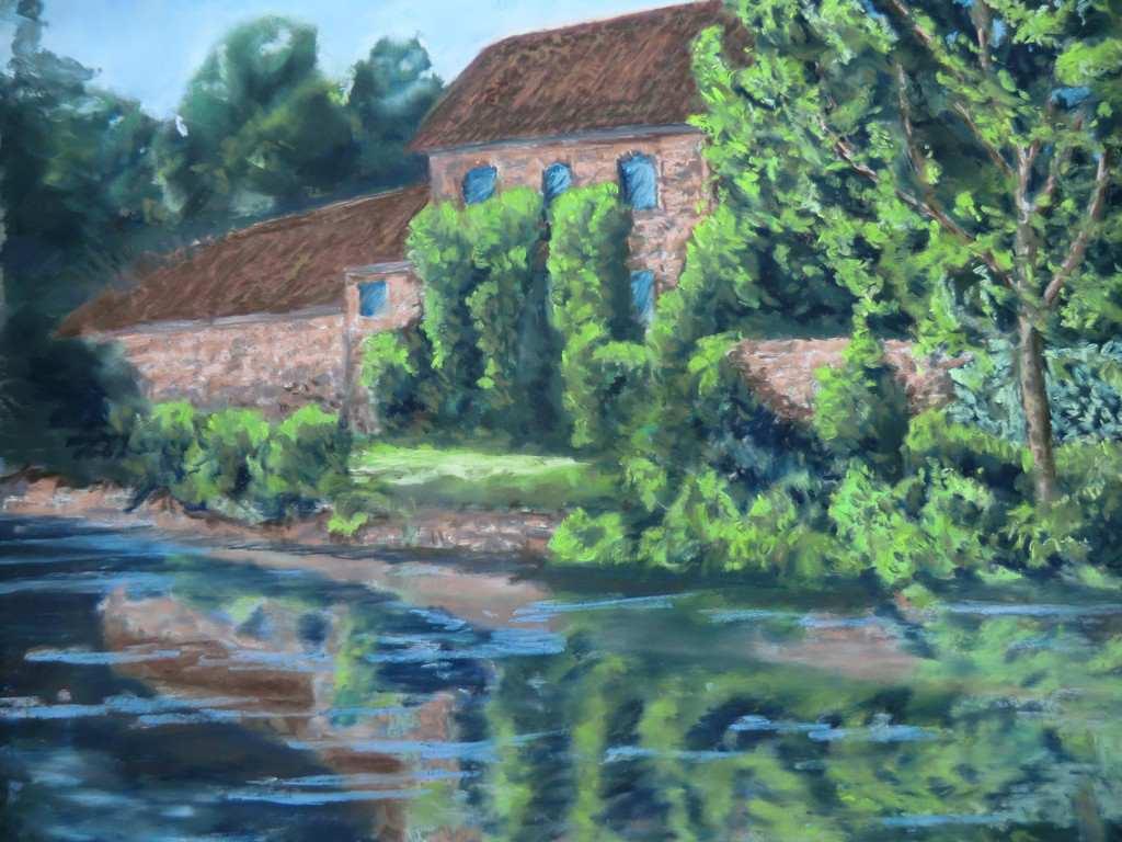 Canal Head Driffield – a pastel by Duncan Baird