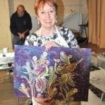 Batik demonstration by Loraine Walker