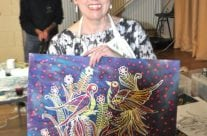 Batik demonstration by Loraine Walker