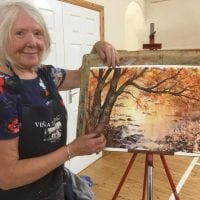 Shirley Davis Dew workshop for Driffield Art Club 2.6.18