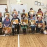 Members from the workshop run by Shirley Davis Dew on June 2nd 2018